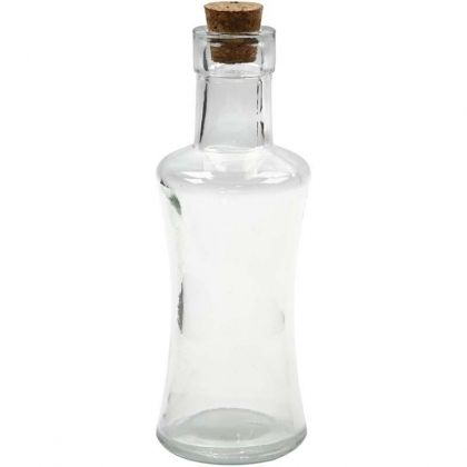 Sticlă mini cu dop de pluta, 175ml, 16cm - C55986
