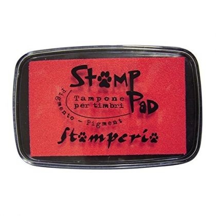 Tusiere Stamp Pad 7.5x5 cm - Red WKP01G