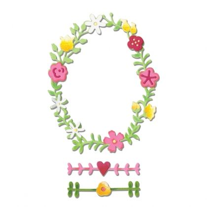 Matrita Sizzix Thinlits - Floral Wreath #2 660366