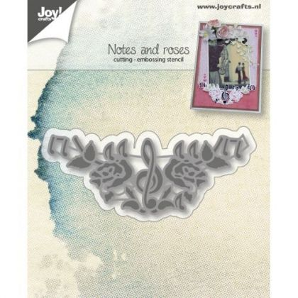 Matrita JoyCrafts - Note and roses 6002-0201