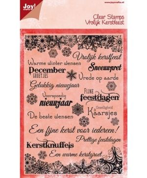 Stampila Silicon - Text christmas NL 6410-0117