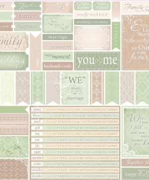 Hartie scrapbooking 30.5x30.5cm - For Wedding Cards SCB220602625b