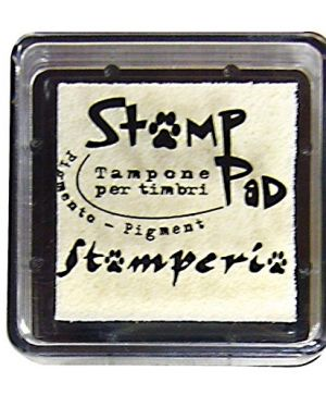 Tusiere Stamp Pad 2.5x2.5 cm - ivory WKP10P