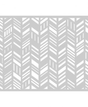 Matrita Sizzix Thinlits - Card Front, Fancy Chevrons 660106