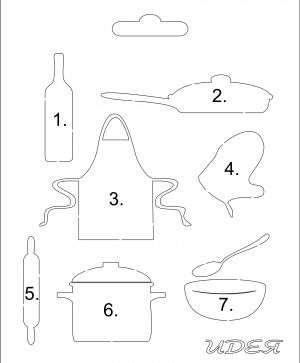 Elemente din carton - Cooking IDEA0976