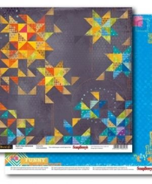 Hartie scrapbooking 30.5x30.5cm - Basik's New Adventure Fireworks SCB220606804