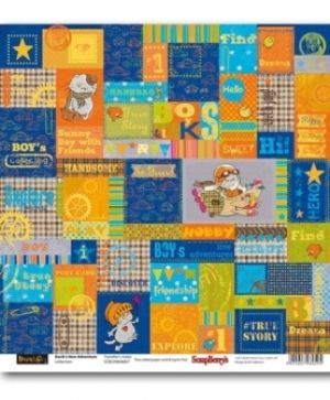 Hartie scrapbooking 30.5x30.5cm - Basik's New Adventure Traveller's notes SCB220606807