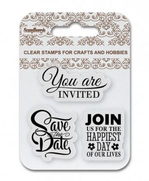 Stampila Silicon 7x7cm - Save the Date, Wedding SCB4907085