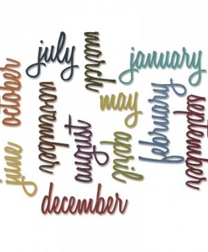 Matrita Sizzix Thinlits - Calendar Words: Script 661179