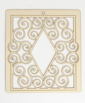 Elemente din carton - Frame with ornaments 2 IDEA1473