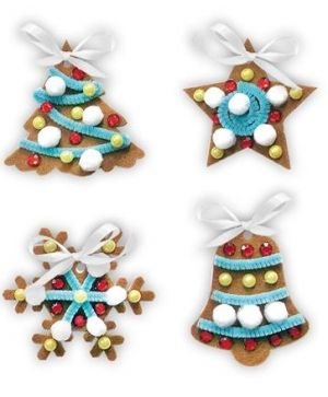 Kit creativ din fetru, 4 buc - Christmas gingerbreads KSFI-020