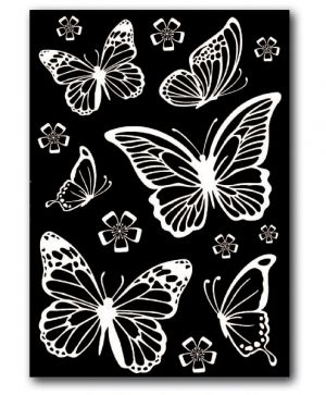 Rub-on sticker A5 - Butterflies DFTD01