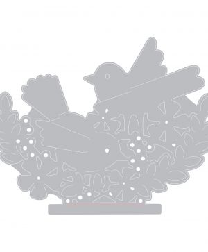 Matrita Sizzix Thinlits - Interlacing Birds 662101