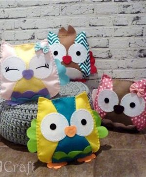 Kit creativ din fetru - Owl pillow Sweetie KSFI-097