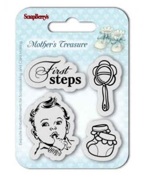 Stampila Silicon 7x7cm - Mother's Treasure, First Steps SCB4907015