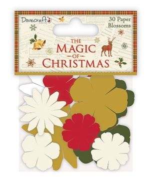 Flori hartie  - The Magic of Christmas - DCFLW016X17