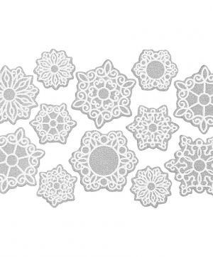 Stickere din foam - Snowflakes C28421