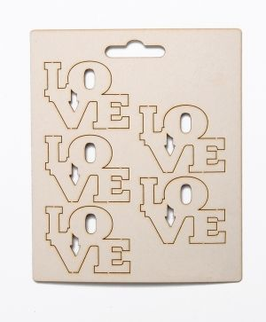 Elemente din carton - LOVE 2 IDEA0703