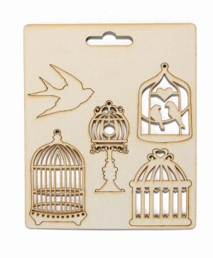 Elemente din carton - Birdcages IDEA0924