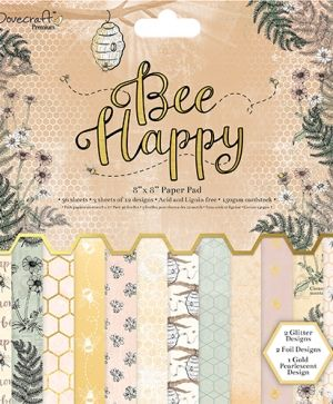 Set cartoane scrapbooking 20,3x20,3cm - Bee Happy DCPAP071