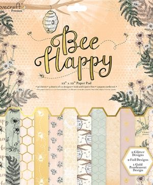 Set cartoane scrapbooking 30,5x30,5cm - Bee Happy DCPAP070