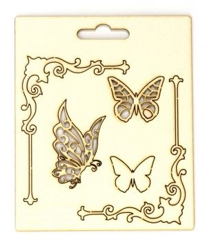 Elemente din carton - Corners and butterflies IDEA0971