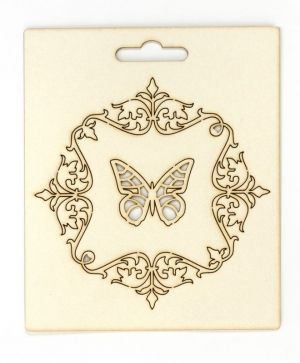 Elemente din carton - Ornaments and butterfly IDEA0974