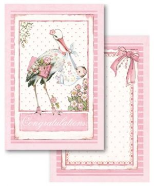 Set cartoane scrapbooking 11,4х16,5см, 24 buc - Baby Girl SBBPC05