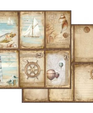 Hartie scrapbooking 30.5x30.5cm - Sea land cards SBB541