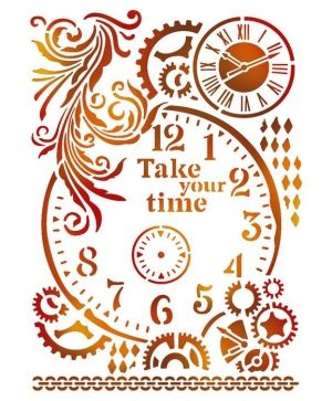 Sablon decorativ din plastic 21x29,7cm - Take your time KSG417