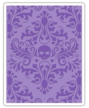Matrita embossing folder Sizzix - Skull Damask 662390