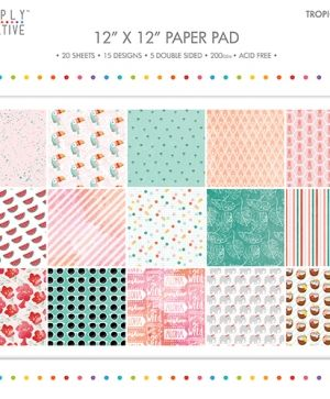 Set cartoane scrapbooking 30,5x30,5cm - Tropicana SCPAD093