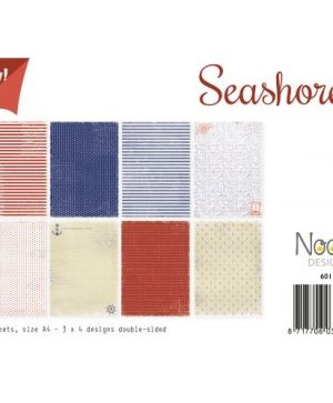 Set cartoane scrapbooking A4 12 coli - Seashore 6011-0517
