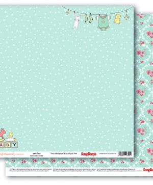 Hartie scrapbooking 30.5x30.5cm - First Moments, Sweet Green SCB220611106
