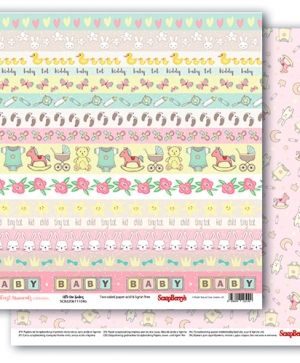 Hartie scrapbooking 30.5x30.5cm - First Moments,  Little One Borders SCB220611104B