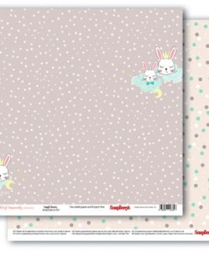 Hartie scrapbooking 30.5x30.5cm - First Moments, Snuggle Bunnies SCB220611101