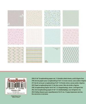 Set cartoane scrapbooking 15,2х15,2cm - First Moments SCB220611109X
