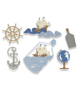 Matrita Sizzix Thinlits - Ship in a Bottle 662546