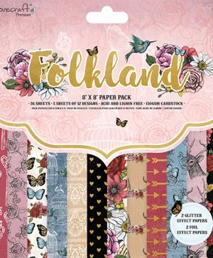 Set cartoane scrapbooking 20,3 х 20,3 cm - Folkland DCPAP104
