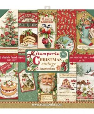 Set cartoane scrapbooking 30,5х30,5cm - Christmas Vintage SBBL45