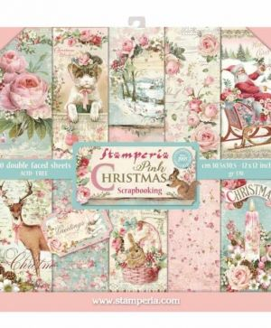 Set cartoane scrapbooking 30,5х30,5cm - Christmas Pink SBBL46