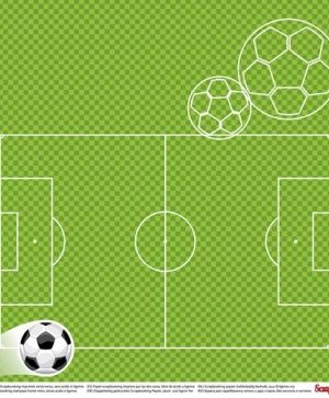 Hartie scrapbooking 30.5x30.5cm - Football Star, On the Pitch SCB220611301