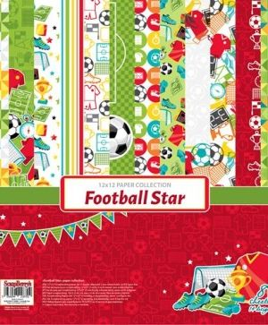Hartie scrapbooking 30.5x30.5cm - Football Star SCB220611300B