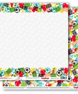 Hartie scrapbooking 30.5x30.5cm -  Football Star, Goal SCB220611304