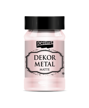 Vopsea Decor Metal Matte 100ml - roz aur P35122