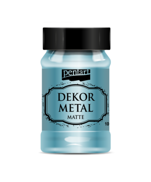 Vopsea Decor Metal Matte 100ml - turcoaz P35203