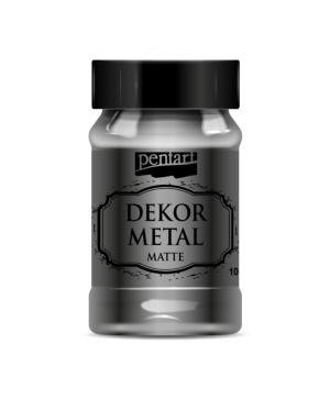 Vopsea Decor Metal Matte 100ml - antracit P35206