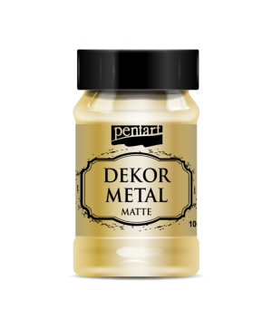 Vopsea Decor Metal Matte 100ml - aur P35107