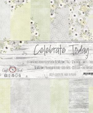 Hartie scrapbooking 30.5x30.5cm, 6 coli - Celebrate Today CC-ZPD-CT-06