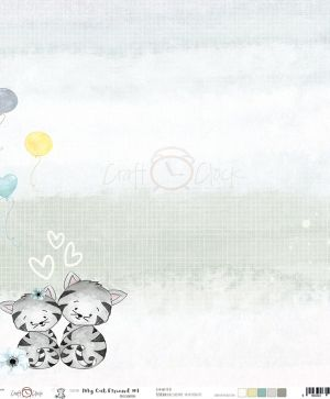 Hartie scrapbooking 30.5x30.5cm - My Cat Friend - 01 CC-PD-MCF-10- 01